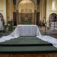 Centenary Pilgrim Cloth of the Missionary Society of St. Columban