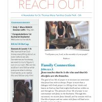 REACH Out Newsletter April 29, 2018