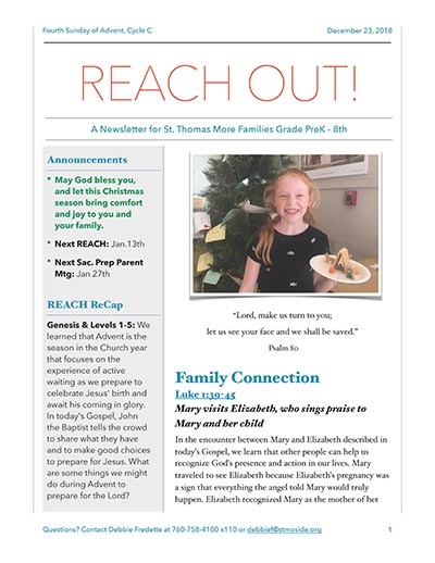 REACH Out Newsletter, December 23, 2018