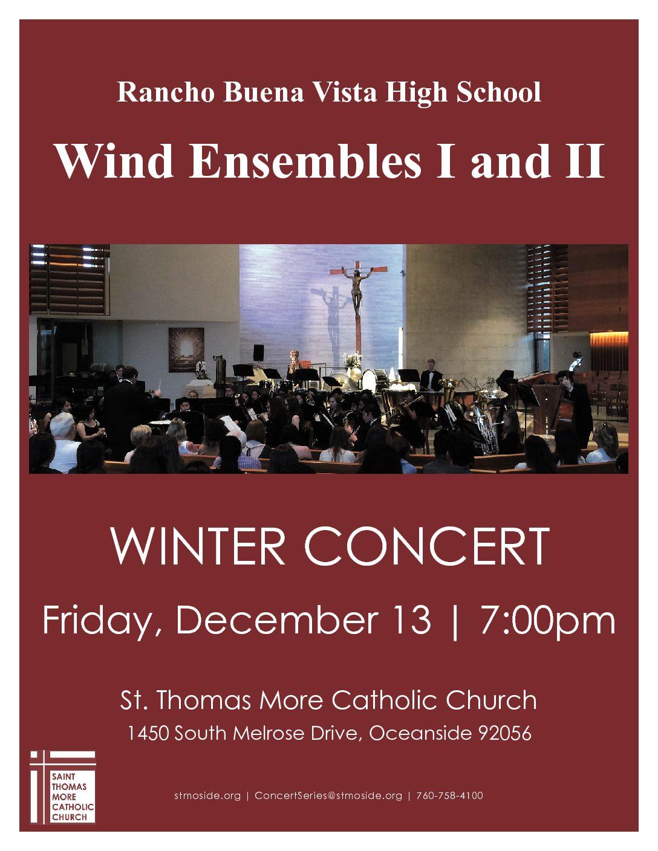 Rancho Buena Vista HS Wind Ensembles I and II Concert