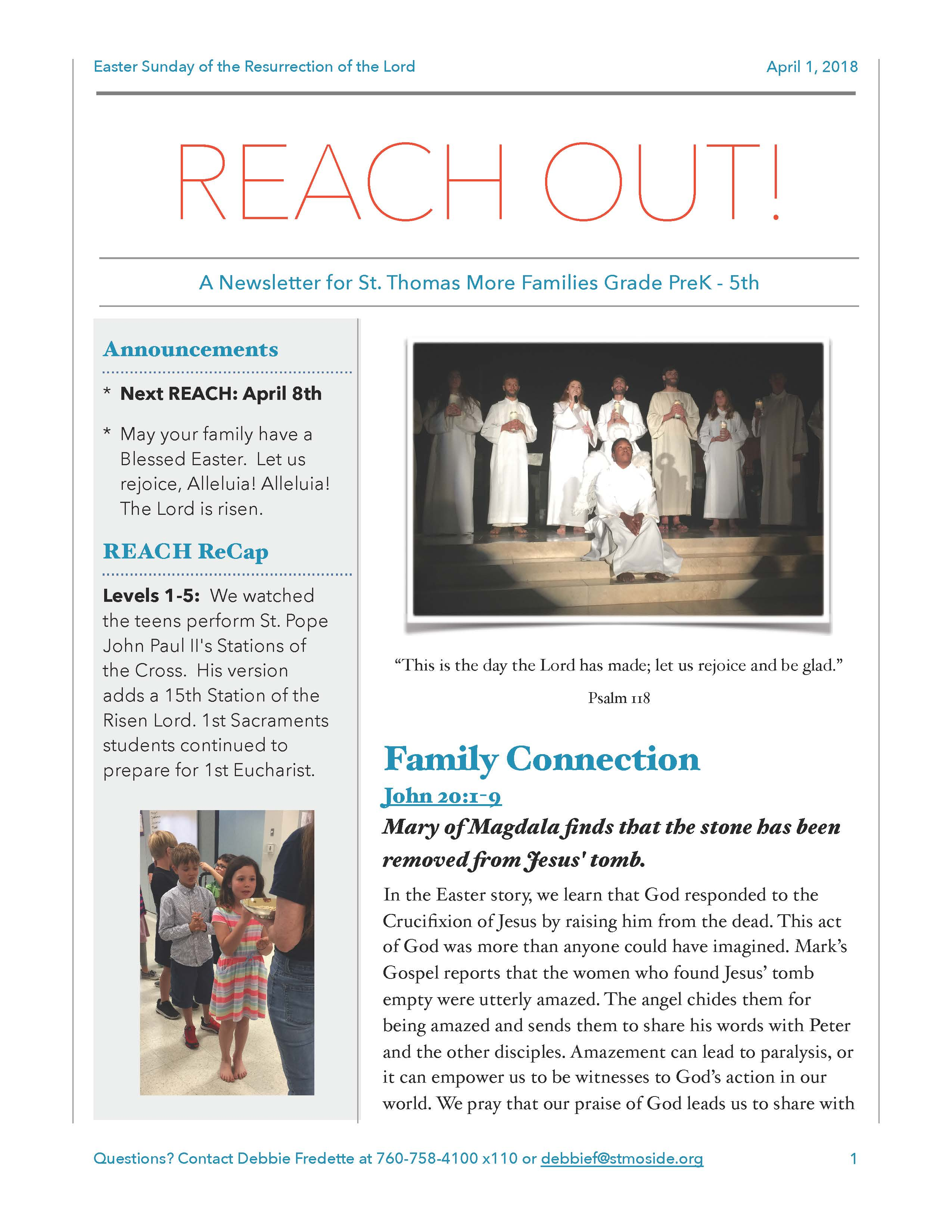 REACH Out Newsletter
