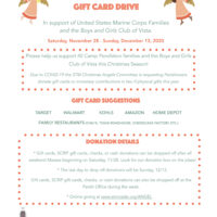 Christmas Angel Program to Benefit Marine Corps Families and Boys and Girls Club of Vista